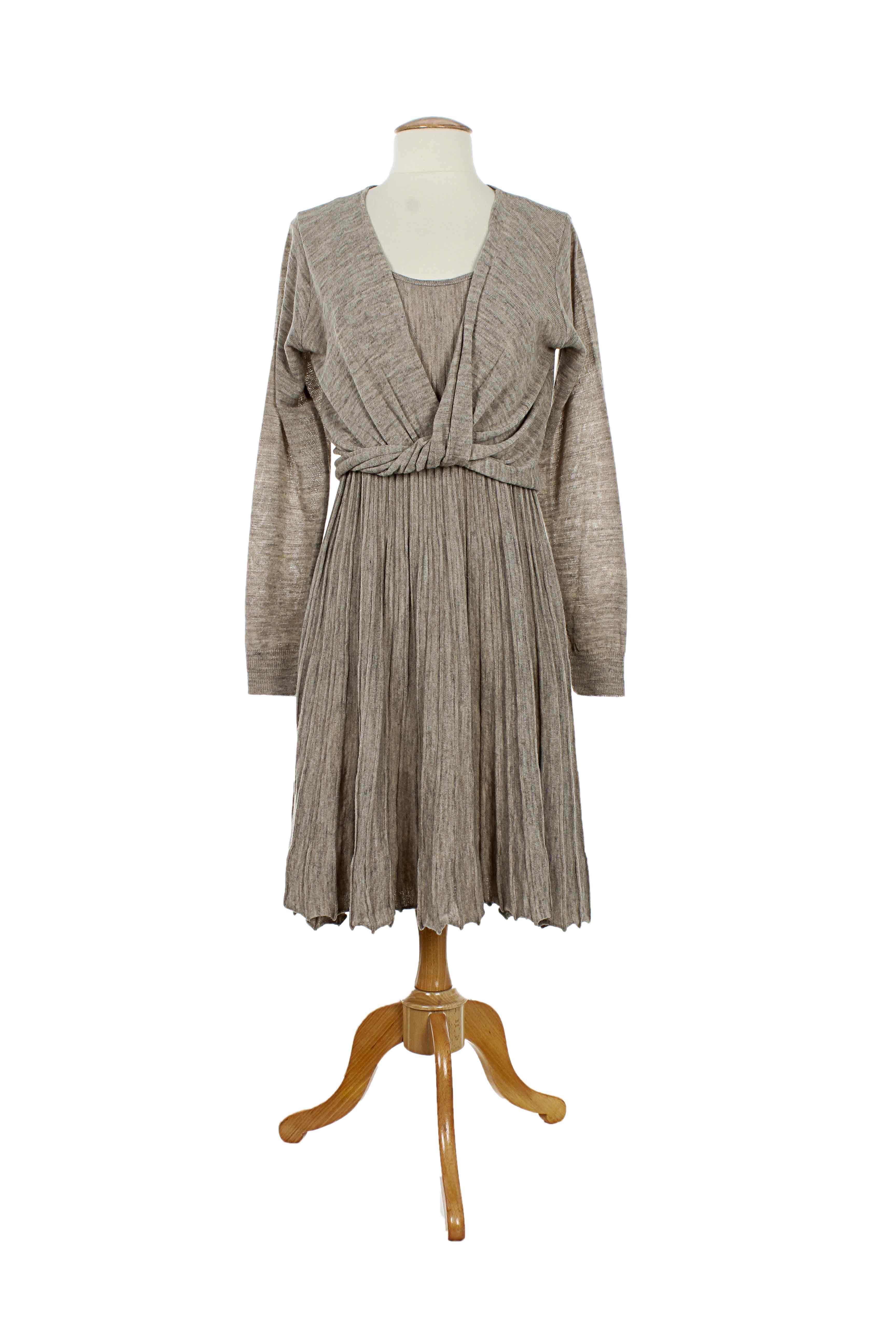 lauren vidal robes longues femme de couleur beige en. Black Bedroom Furniture Sets. Home Design Ideas